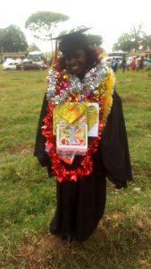 Cecilia Cherono during her graduation